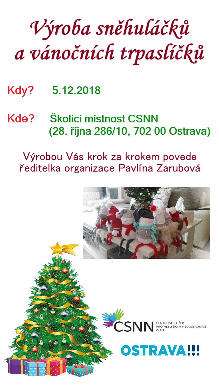 Výroba sněhláčků a vánočních trpaslíčků