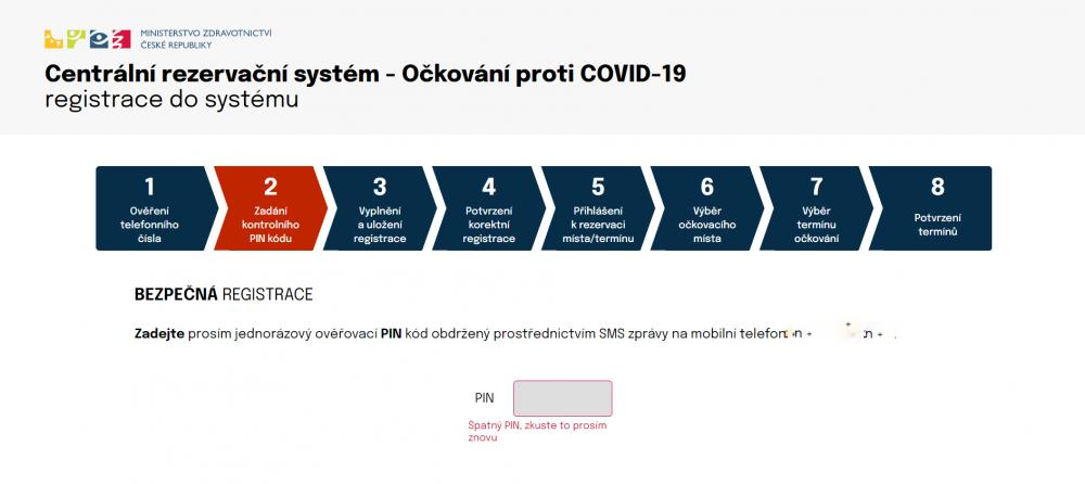 Registrace na očkování proti COVID 19